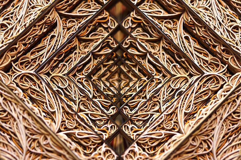 Удивительные узоры, вырезанные лазером на бумаге
